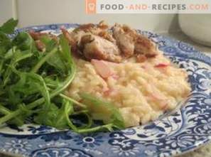 Risotto with radish