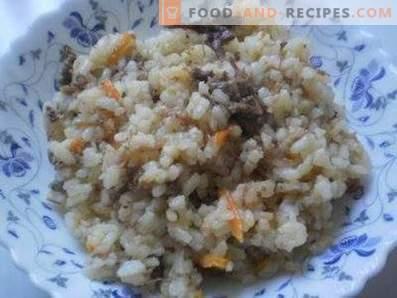 Ryż z gulaszem w garnku