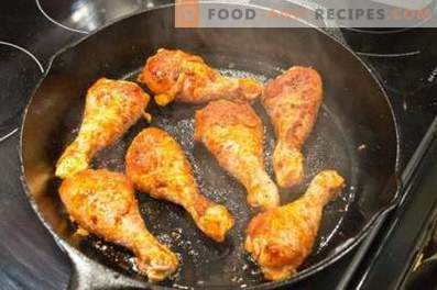 Podudzia z kurczaka na patelni