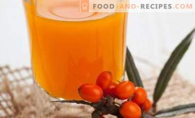 Sea buckthorn compote for the winter