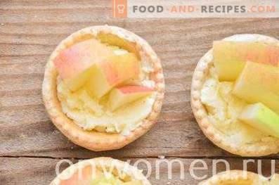 Tartelettes aux pommes et crème au beurre