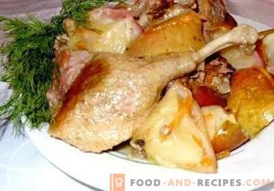 Kaczka duszona z ziemniakami