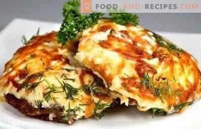 Französisches Fleisch mit Tomaten und Käse