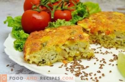 Fischauflauf mit Gemüse und Käsesauce
