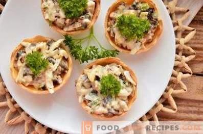 Tartlets z grzybami