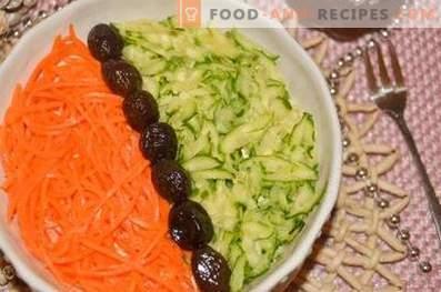 Sałatka warstwowa z wołowiną i warzywami