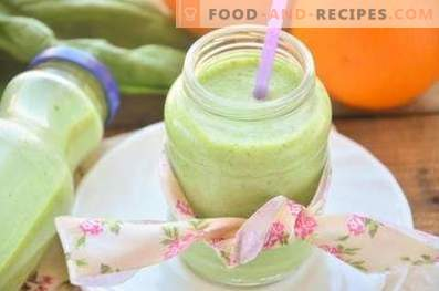 Smoothies met kefir en komkommer