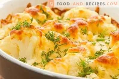 Kalafior zapiekany w piekarniku z serem
