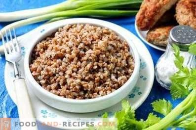 Crumbly buckwheat for garnish