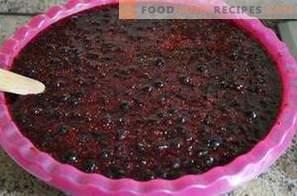 Czarna porzeczka tarta z cukrem na zimę