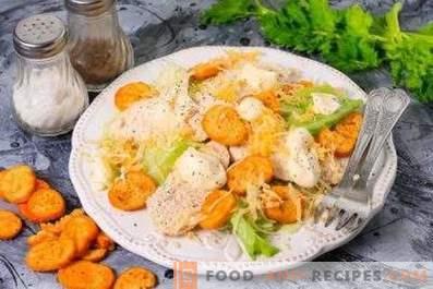 Wie man Hühnchen für Caesar-Salat kocht