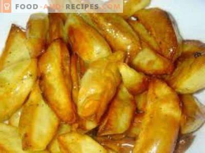 Jak gotować ziemniaki w kuchence mikrofalowej z serem, mięsem, bekonem, frytkami, gotowanymi