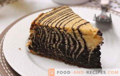 """Ciasto ludowe """"Zebra"""" na śmietanie - pyszny deser w paski. Przepisy na ciasto """"Zebra"""" na śmietanie: wybór smaku i technologii należy do Ciebie!"""